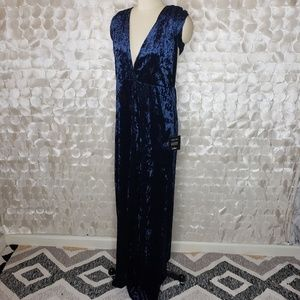 Lulu's Dresses - Lulus Blue Velvet convertible Maxi dress NWT Sz XL